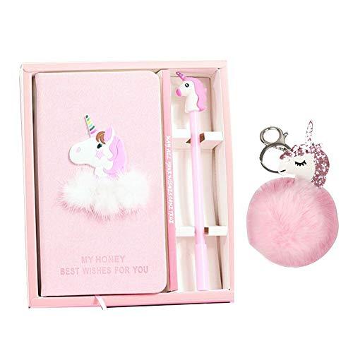 Set de stylos gel Journal Unicorn - Porte-clés Unicorn De beaux cadeaux pour les filles de tous les âges: 3 4 5 6 7 8 9