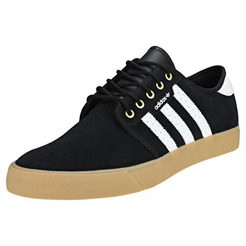 adidas Seeley, Zapatillas de Skateboard Hombre, Negro (Core Black/Footwear White/Gold Metallic 0), 39 1/3 EU