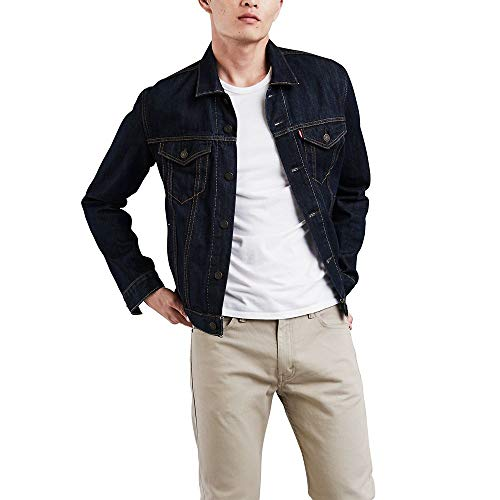 Levi's Men's The Trucker Jacket, Rinse, Medium