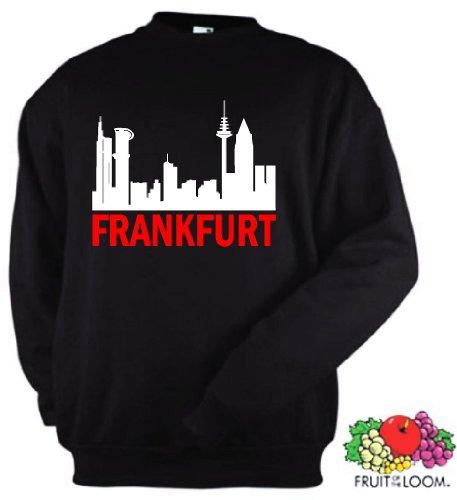 Frankfurt Skyline Sweatshirt Ultras Pulli schwarz-S