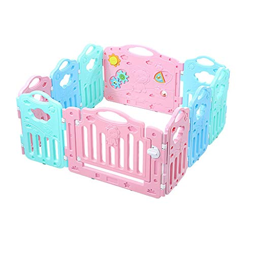 Check Out This Baby playpen Children's Playpen Game Bar Activity Panel, Indoor Home Security Fence 3 Shaped Playground (Size : 11411461cm)