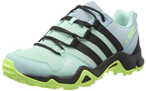 adidas Terrex AX2R K, Zapatillas de Marcha Nórdica Unisex Niños, Verde (Clear Mint/Carbon/Hi/Res Yellow Clear Mint/Carbon/Hi/Res Yellow), 32 EU