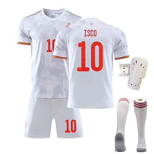 FDSEW Fußballtrikots für Erwachsene für Kinder Geeignet für die spanische Mannschaft Nr. 6 A.Iniesta Nr. 10 ISCO Nr. 15 Ramos-Trikot benutzerdefinierte Heimtrikots 18 No.10