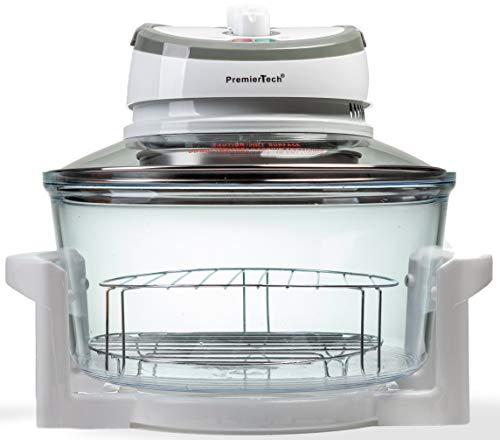 PremierTech Forno Alogeno ad Aria Ventilato 17 litri 1400 watt Multifunzione cuoce senza olio (Bianco) PT-FA12