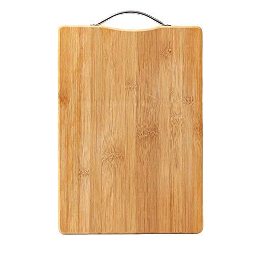 Voolok Schneidebrett mit Bambus-Hackklötzen und Griff für Fleisch und Gemüse. Einfacher Halt und saubere, Starke und robuste Geschenke zur Einweihungsfeier