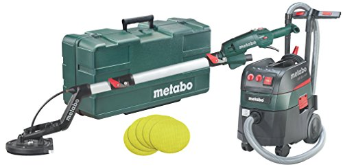 Metabo Long Neck Sander LSV 5-225 Comfort + All-Purpose Vacuum Cleaner ASR 35 L ACP Set (690886000) with 25 Adhesive Sanding Sheets P 120 Plastic Case