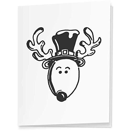 Azeeda 4 x 'Reindeer Head' Gift Tags / Labels (GI00034155)
