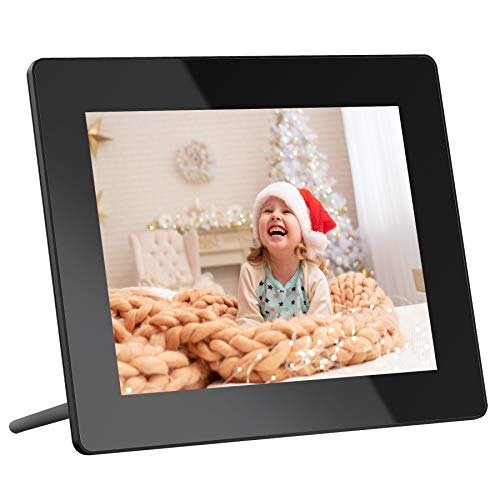 Dragon Touch Digital Picture Frame, 8-Inch Wi-Fi Digital Photo Frame with IPS Touch Screen HD Display, 16GB Storage, Share Photos via App, Email, Cloud, Support USB Drive/SD Card - Classic 8 Digital Frames Picture
