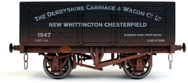 Dapol 7F080027W 8 Plank Wagon Derbyshire Carriage 1947 Weathered