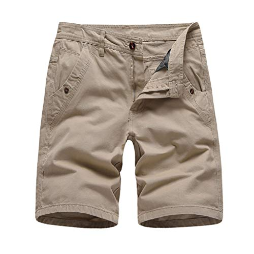 Lowest Prices! Wadonerful-men Overalls Shorts Solid Color Button Shorts Classic Cargo Shorts Summer ...
