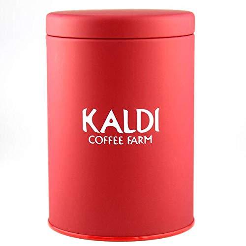 【KALDIカルディオリジナル】 キャニスター缶 赤(レッド) 1個