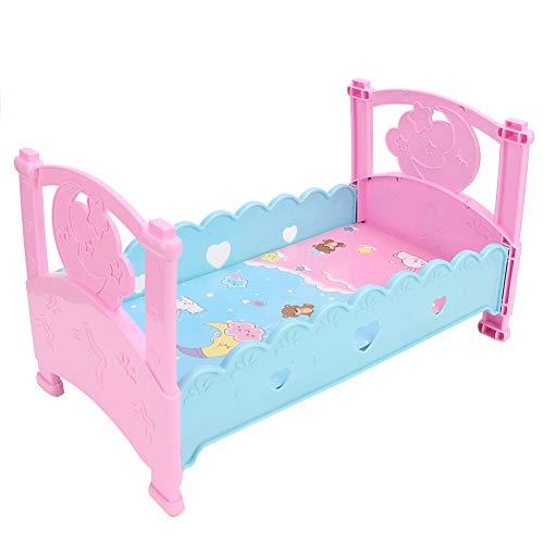 Juguetes de cama de muñeca, simulación de bebé mini muebles de cama...