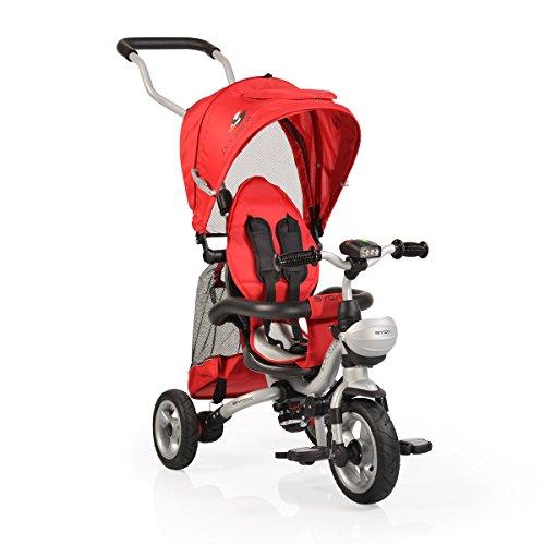 Byox Triciclo F1 Triciclo, Rueda, neumático, Manillar, Plegable, Color:Rojo