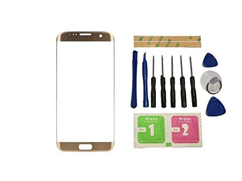 Flügel voor Samsung Galaxy S7 Edge G935F G9350 Voorste Buitenste Glas Lens Goud (Geen Digitizer Geen LCD-scherm) Reparatie Vervangend Onderdeel + Gereedschap + Kleefmiddel