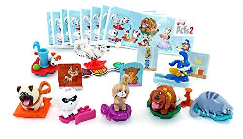 Pets 2 Figuren Set aus dem Kinder Überraschungsei (Komplettsatz - Hundefiguren)