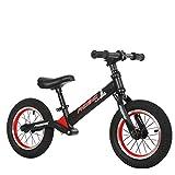 Y-Bikeee Bici Leggera per Bambini E Neonati - Senza Pedale Bicycle Bicicletta da Allenamento Sportiva in Alluminio per Bambini di età 2,3,4,5,6,Black