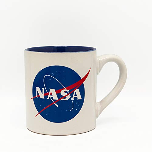 Silver Buffalo NASA Logo, 14-Ounce Ceramic Mug, White