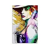 HZHI Lady Gaga Kunst-Poster, dekoratives Gemälde,