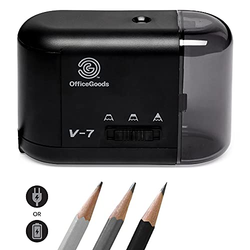OfficeGoods Electric & Battery Operated Pencil Sharpener