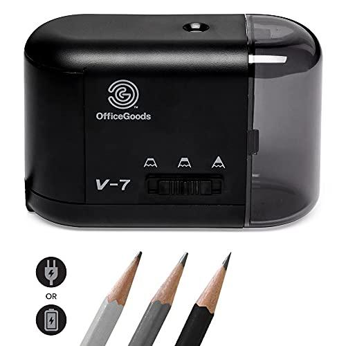 Electric Pencil Sharpener - Compact & Portable Heavy Duty...