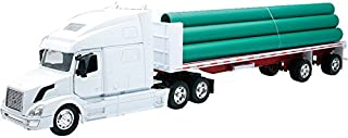 VOLVO VN-780 FLATBED W/ LONG PIPE Truck New Ray by NewRay