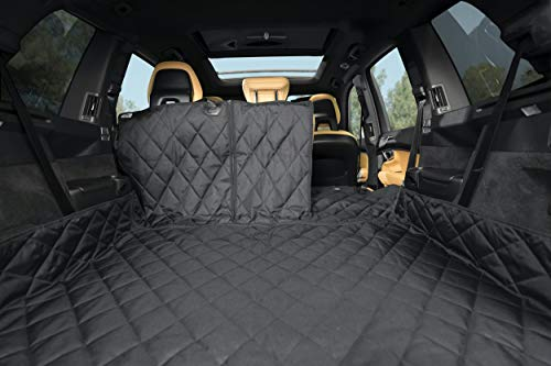 Price comparison product image Plush Paws Waterproof Cargo Liner with Bumper and Side Panels,  Large (Black)