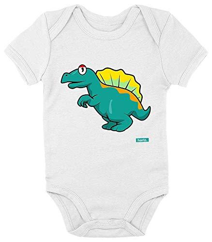 Hariz Baby Body Manga Corta Spinosaurus 2 Dinosaurio Dinosaurio Kids Plus Tarjetas de regalo blanco...
