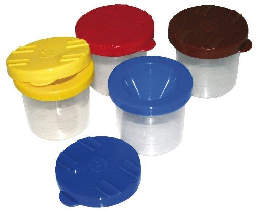Pinselbecher mit Auslaufschutz, 1 Stück, Durchmesser 7,5cm, Höhe 9cm