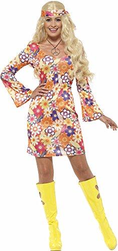 Flower Hippie Kostüm für Damen Gr. XL (X1)