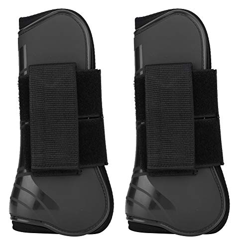 1 Paar Pferd Gamaschen Horse Jumping Protection Stiefel Profis Horse Support Wrap Boots Reitsportausrüstung(Schwarz)