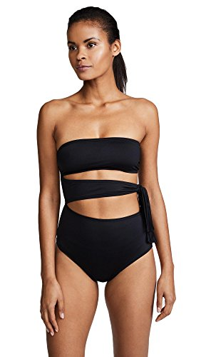 Proenza Schouler Side Tie One Piece Swimsuit (L) Black