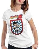 CottonCloud Tsubasa Camiseta para Mujer T-Shirt Holly e Benji súper campeones, Color:Blanco, Talla:S