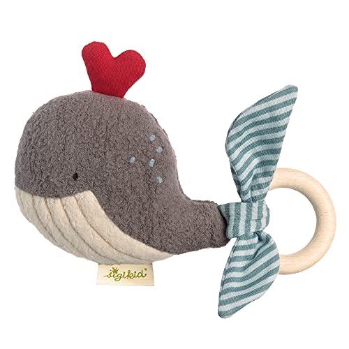 SIGIKID 38997 - Sonaglio per bambini e bambine, motivo balena verde, con sonaglio, consigliato dai 3...