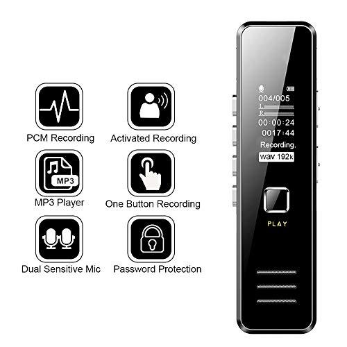 BOTTLEWISE 007 Grabadora de Voz Espia Larga Duración Minin Audio Digital Portatil con Reproductor de MP3 USB