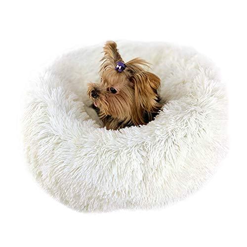 PETCUTE Katzenbett Flauschige Hundebetten kleine Hund Katzenbetten runde gemütliches Haustierbett Waschbares weiches Bett für Kätzchen