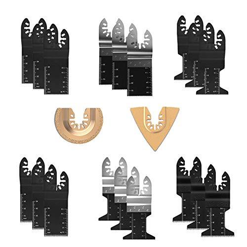 20PCS oscilante multiherramienta Accesorios sierra de reemplazo de herramientas de metal de madera de liberación rápida universal