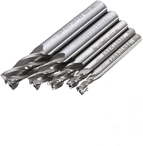 5 PCS HSS CNC Schaft 4 Flöte Schaftfräser Fräser End Mill Werkzeug 4/6/8/10/12 mmmm