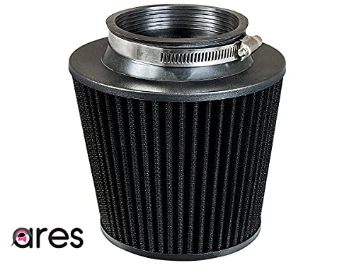 """Ares black 2.5"""" Universal Dry Air Filter Cone Dry Filter Replacement"""
