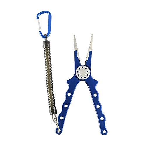 CUHAWUDBA Ausleger Angeln X02 Aluminiumlegierung Angelzange Split Ringschneider Haken Entferner Werkzeug mit Einziehbarem Lanyard und Mantel Tackle
