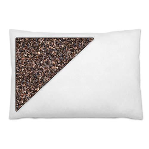 Daiwa Felicity 100% Natural Premium Buckwheat Sobakawa Pillow with Pillow Protective Cover