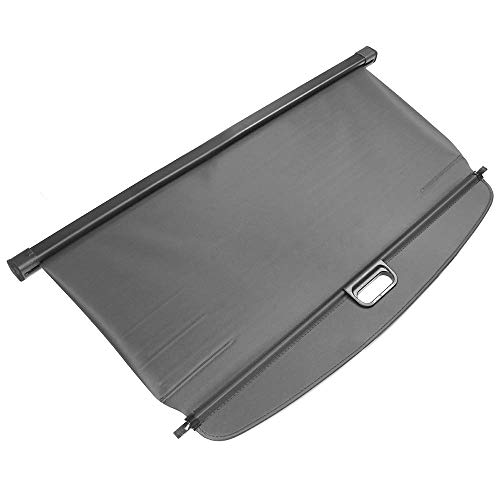 IKON MOTORSPORTS Compatible With 2019 Toyota RAV4, Retractable Rear Cargo Security Trunk Cover Black