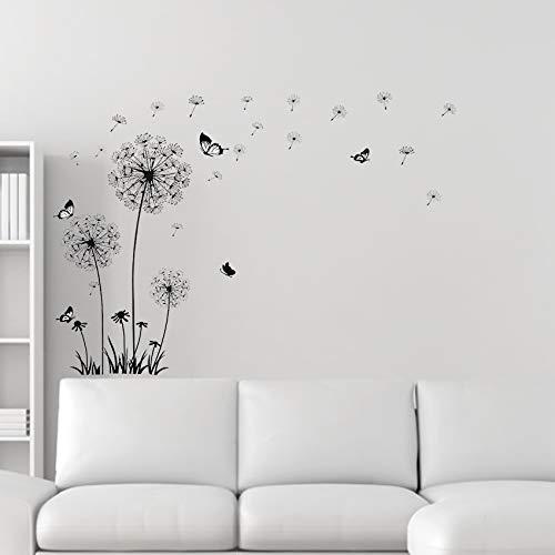 Stickers For Kinderen Butterfly Vliegen In Dandelion Slaapkamer Woonkamer Interieurstickers PVC Muurstickers Woondecoratie Achtergrond