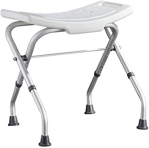 WDHWD Medische Douche Kruk Douchestoel Opvouwbare Hoge Lading Lager Aluminium Been Anti-Slip Verstelbare Hoogte Geschikt voor Ouderen Gehandicapten