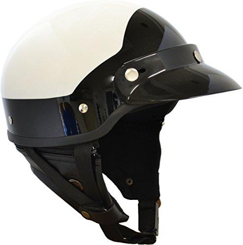 マルシン(MARUSHIN) バイクヘルメット ハーフ MP-110 U.S.A POLICE STYLE ホワイト/ブラック フリーサイズ (57-60cm未満) MP1101