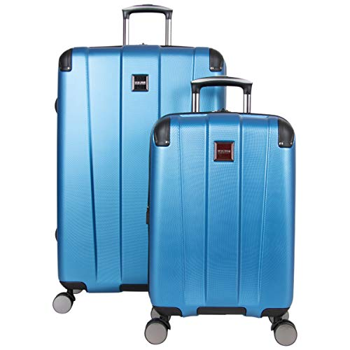 Kenneth Cole Reaction Continuum Hardside 8-Wheel Expandable Upright Spinner Luggage, Vivid Blue, 2-Piece (20' Carry-On / 28' Check Size)