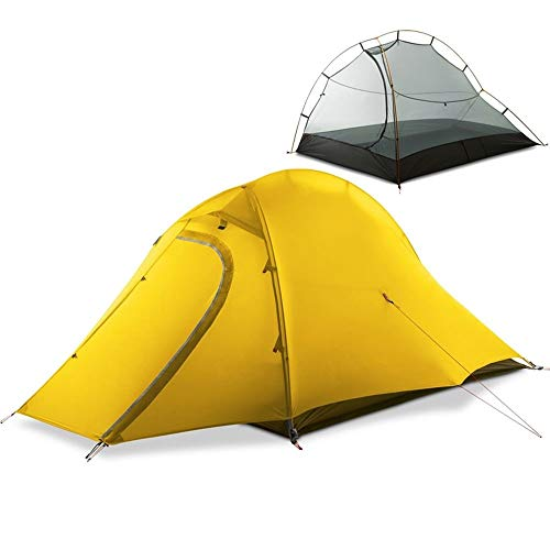 Luorizb Ultra-light Outdoor Tent 2 Person Camping Tent With Footprint Waterproof Backpacking Tent Lightweight And Quick Setup Camping anti-blizzard ultralight tent (Color : A)