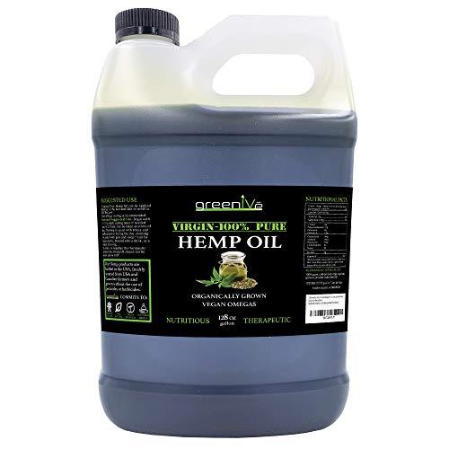 GreenIVe - Hemp Oil - Vegan Omegas - Cold Pressed - Exclusively on Amazon (128oz)