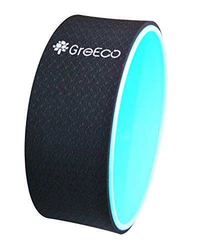 GreEco Yoga Wheel Pilates Roller- Extra Strength Prop in...