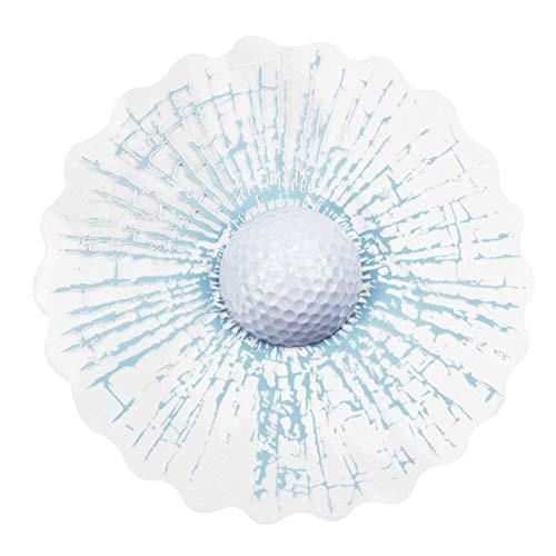 Ndier 1Hojas creativos Broken Glass Effect 3D Auto Calcomanía koder Etiqueta Auto Pegatinas Reflectantes Blanco Pelota de Golf Auto Accesorios