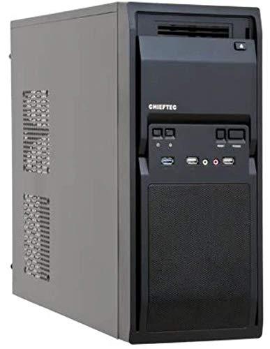 Chieftec LG-01B-OP PC-Gehäuse (ATX, 2X 5,3 Zoll Externe, 2X 3,5 Zoll interne, 1x USB 3.0, 2X USB 2.0) schwarz